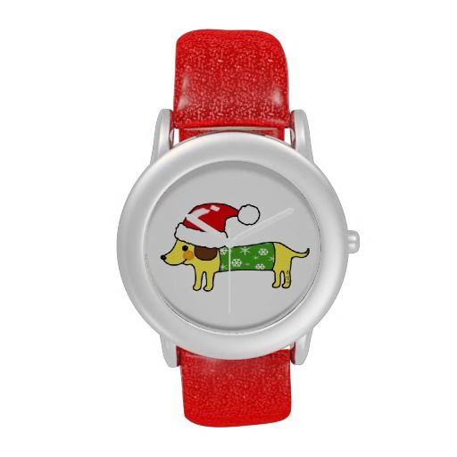 Christmas sausage dog wristwatches: pinterest.com/pin/503347695824291019
