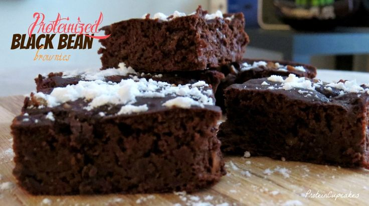 Proteinized Black Bean Brownies | Bariatric Recipes | Pinterest
