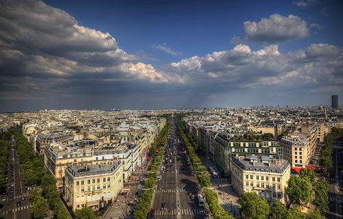 View from Arc de Triomphe, Paris - France
