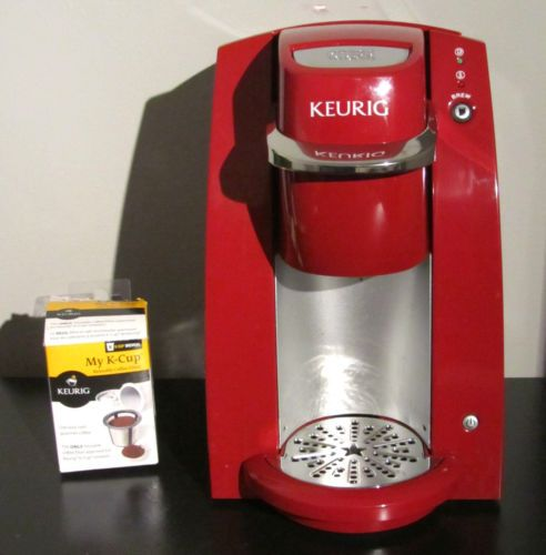 How To Use Red Keurig Coffee Maker : Keurig b30 Mini Bright Red Single Serve Coffee Maker Brewer Spare Cup?