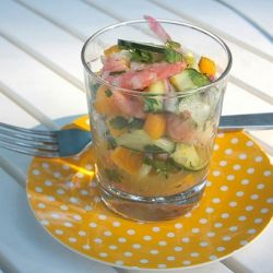 Shrimp Cucumber & Mangoes Salad! | Recipes to try | Pinterest
