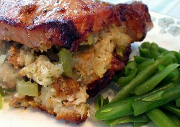 Stuffed Pork Chops | Foods | Pinterest