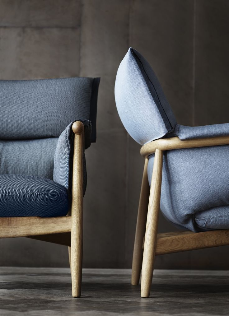 Designer Sessel Jeansstoff