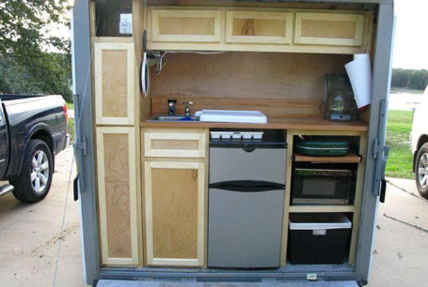 5x8 cargo trailer camper autos post for Camp trailer kitchen designs