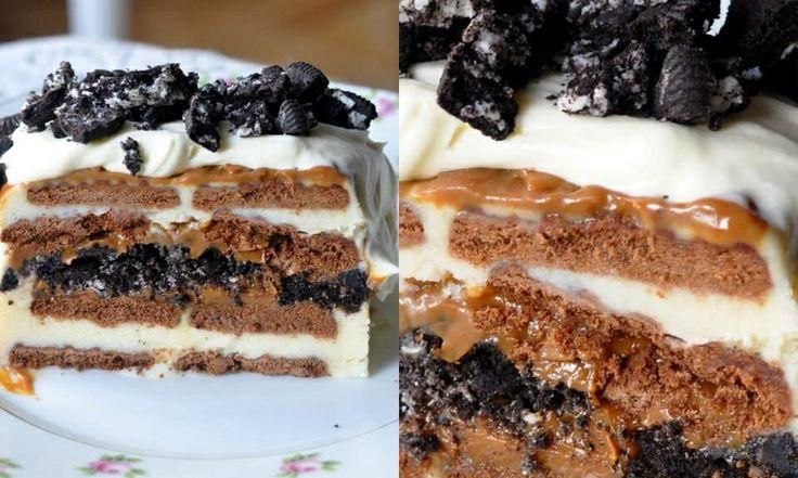Oreo Dulce de Leche Ice Cream Cake | My Stuff | Pinterest