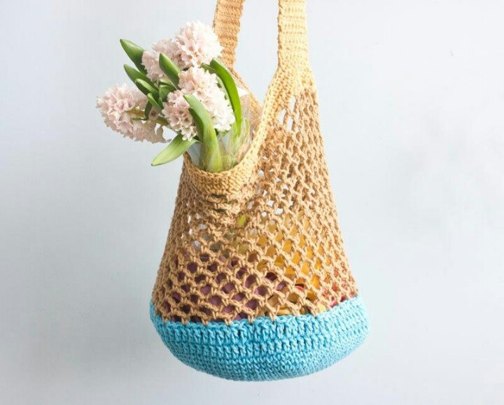 Crochet Grocery Bag Pattern : Crochet grocery bag Patterns Pinterest