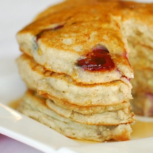 Cherry Banana Pancakes