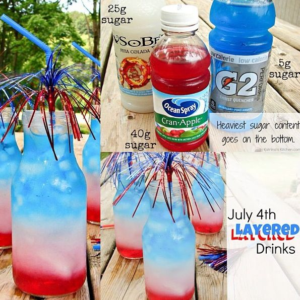 4th of july drinks red white and blue non alcoholic