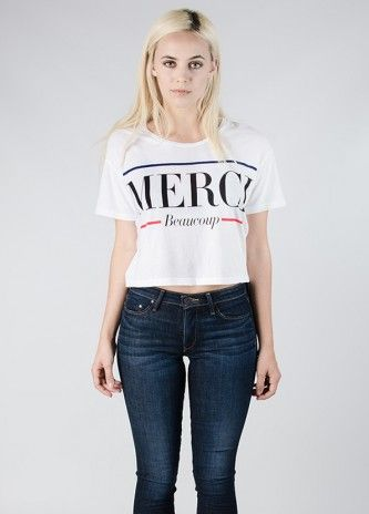 lovers friends merci cropped tee tees womens online clothing boutique