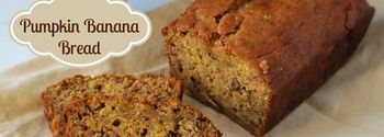 pumpkin banana bread. Make gluten free