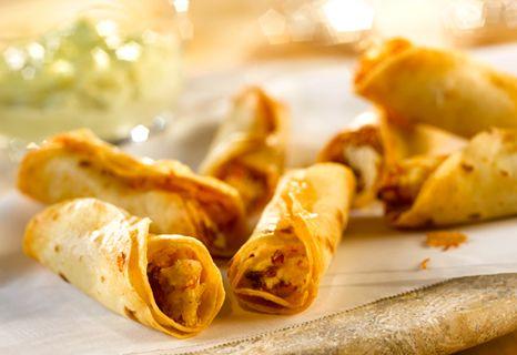 Campbell's Kitchen: Chicken, Bacon & Cream Cheese Mini Taquitos - sub...