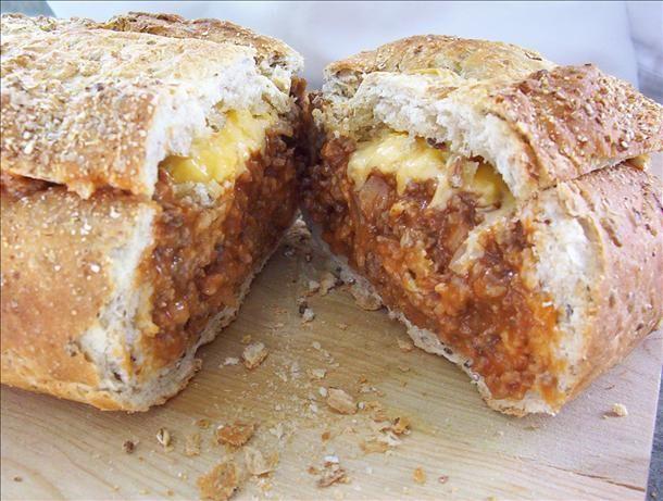 "Cheeseburger""-Stuffed French Bread | Recipe"