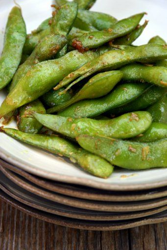 Edamame in Curry Garlic Butter | Culinary Tribune (Asian) | Pinterest