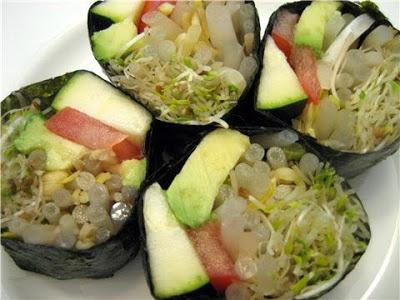 Healthy Vegetable Sushi Nori Rolls | Sushi | Pinterest