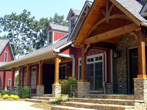 Stunning mountain retreat for House plans with garage attached by breezeway