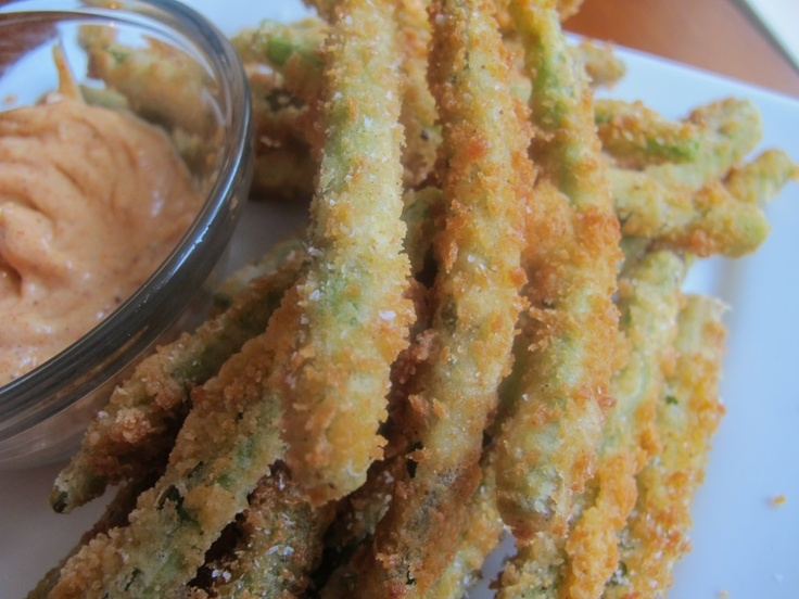 Crunchy fried green beans with chili garlic mayo | Recipe