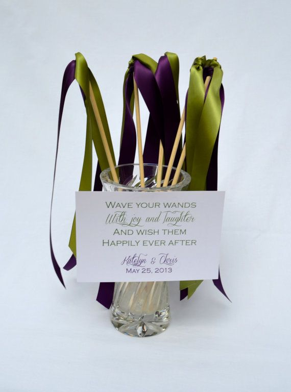 Wedding Ribbon Wands Pack of 50 Double Ribbon two by WedDesigner, $45 ...