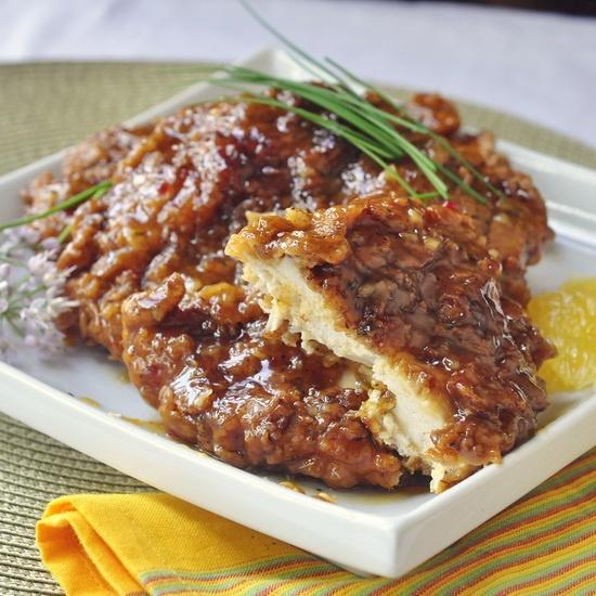 Double Crunch Fried Chicken a L'Orange