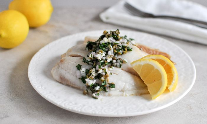 Baked Fish with Salsa Verde | Recipe