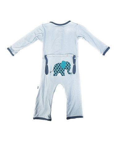 Take a look at this Pond Elephant Playsuit - Infant by KicKee Pants on #zulily today!