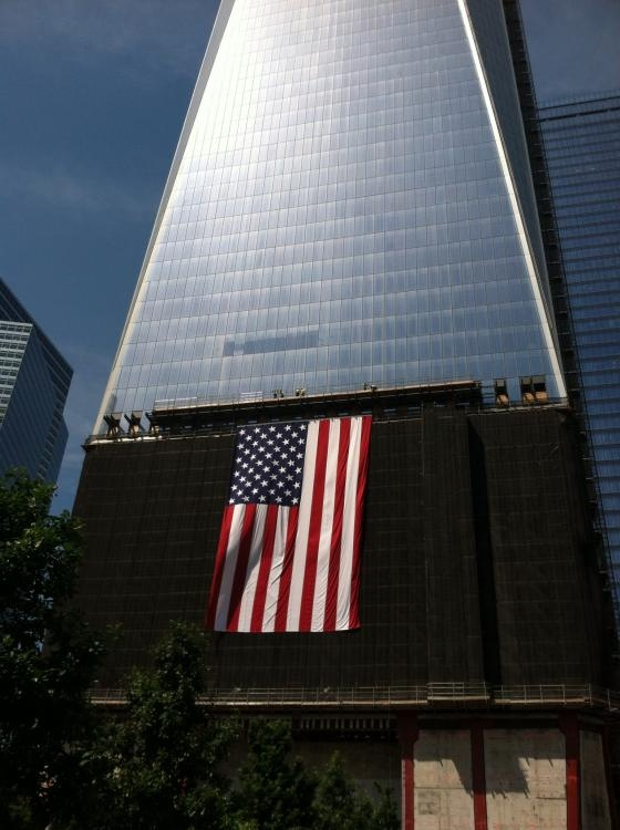 9 11 flag raising