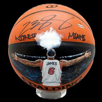 LeBron James 'Witness Miami' Ball Art