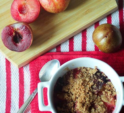 Peach and Pluot Biscoff Crisp   Favorite Recipes   Pinterest