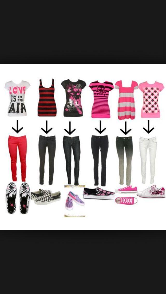 Emo scene clothing stores