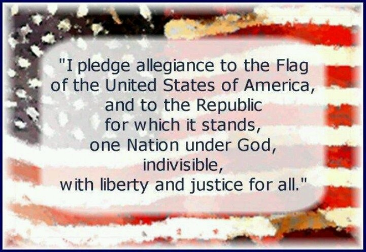 why pledge allegiance to the flag