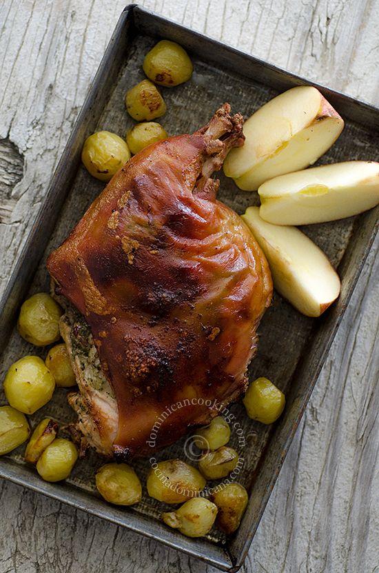 Puerco (pernil) asado | Dominican Food | Pinterest