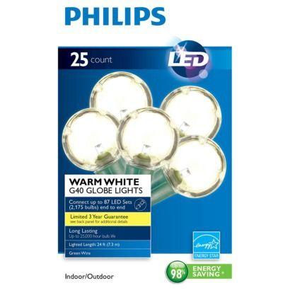 globe string christmas lights plastic led lights 12 for 25 lights 25. Black Bedroom Furniture Sets. Home Design Ideas