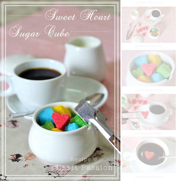 DIY::Heart Sugar Cubes | Geschenke aus der Küche | Pinterest