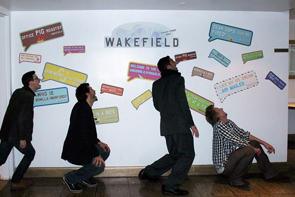 wall graphics and promotional badges for UNCUBED by Wakefield, NYC ...