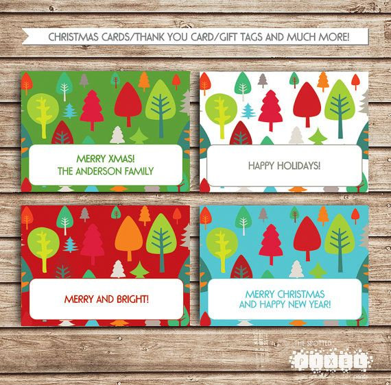 EDITABLE Christmas Blank Cards! Food Cards, Place Cards, Gift Tags, B ...: pinterest.com/pin/523825000379912953