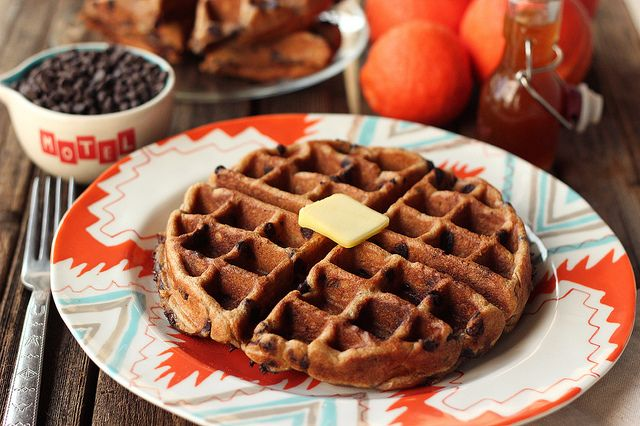Chip Waffles (Gluten-free + Dairy-free) with Orange Spice Maple ...