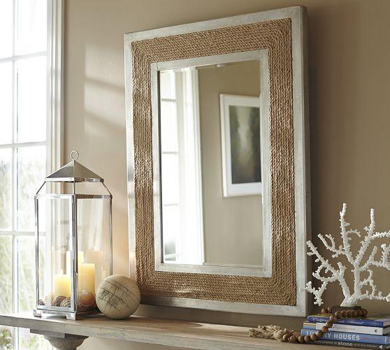 Creative Pottery Barn Bevel Mirror