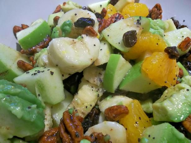 Lite Fruit Salad With Honey Poppy Seed Dressing by Paula Deen ...