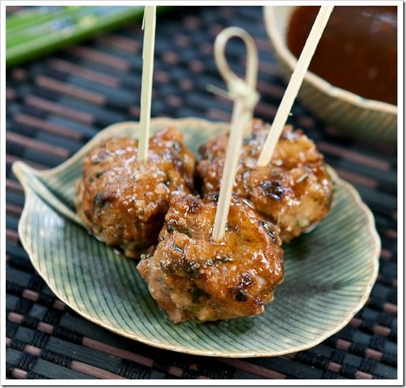 Scallion meatballs with soy ginger glaze | Recipes | Pinterest