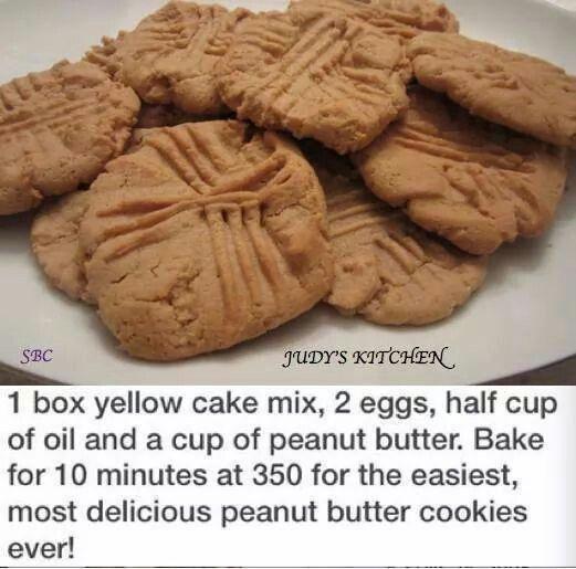 PB Cookies | Food - Favorite Recipes - Sweet | Pinterest