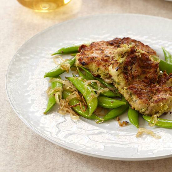 Chicken Thighs with Garlicky Crumbs and Snap Peas-Mario Batali Recipes ...