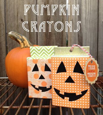 The Moody Fashionista: Pumpkin Crayons