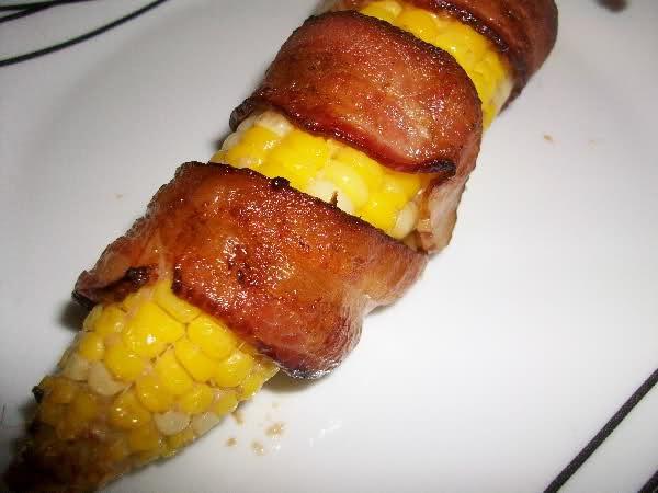 Bacon Wrapped Corn | yummy | Pinterest