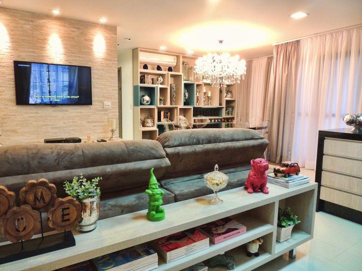 Sala de Tv sala de jantar cozinha  Salas Estar Jantar  Pinterest