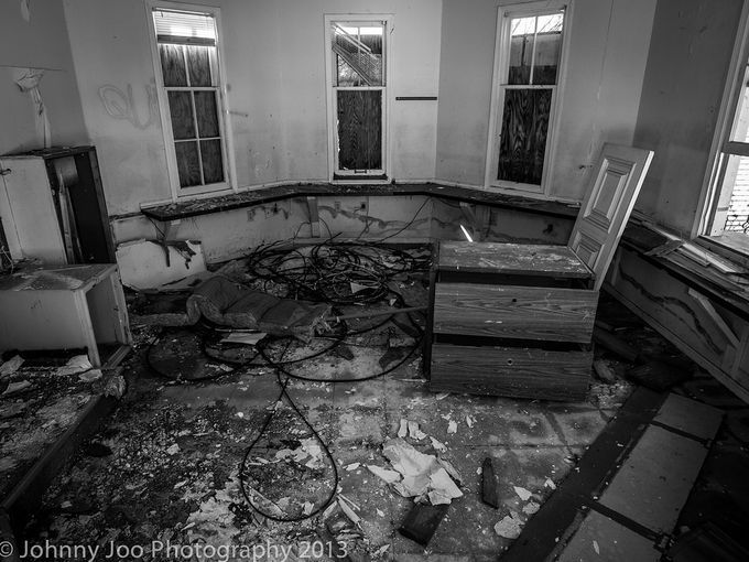 Inside an abandoned building at Geauga Lake. Photo taken by Johnny Joo ...
