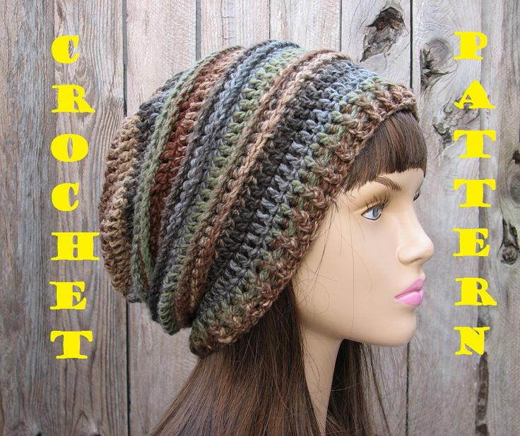 CROCHET PATTERN!!! Crochet Hat - Slouchy Hat, Crochet Pattern PDF,Easy, Great For Beginners, Pattern on Luulla