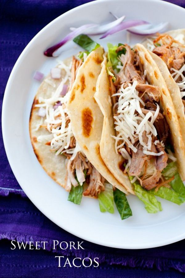 Slow Cooker Sweet Pork Barbacoa | YUUUUMMMM! | Pinterest