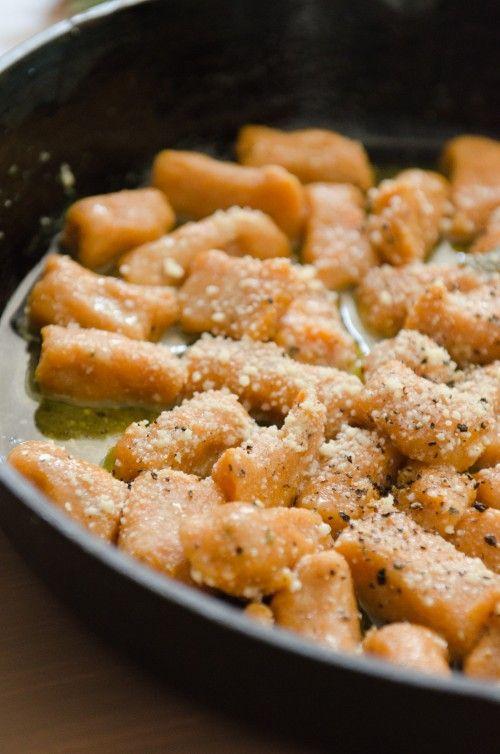 GlutenFree Sweet Potato Gnocchi w/ Sage & Maple Brown Butter Sauce