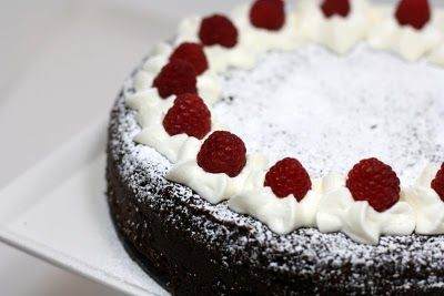 Flourless Dark Chocolate Cake with White Chocolate Mousse and ...