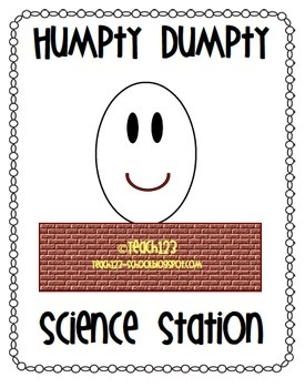 Weekly Freebie: FREE Science Resource  Free from Teach123 on TpT     Humpty Dumpty Science Station - All Free Teacher Resources Blog