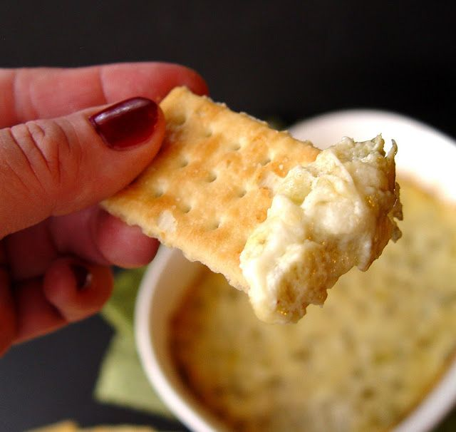 Creamy Artichoke Dip This baked dip looks yummy. But I'm still in ...